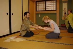 Remise du diplôme de fin de stage au Japon. Shiatsu Japon Biarritz